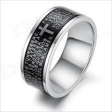 bible verse rings gj279 generous crucifix bible verses titanium steel men s ring