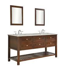 Mission Style Bath Vanity Direct Vanity Sink Mission Spa 70 In Double Vanity In Dark Brown