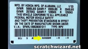 how to find your honda u0027s paint code youtube