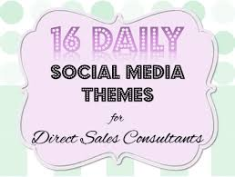 facebook weekday themes 16 daily social media themes for direct sales consultants
