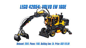 volvo trucks build and price lego technic 42053 volvo ew 160e u0027 unboxing parts list speed
