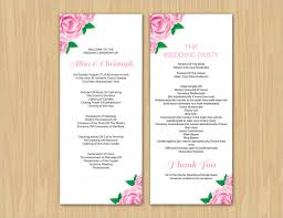 printable wedding programs 17 wedding program template free premium templates
