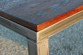 steel and wood table salvaged wood table reason furniture design
