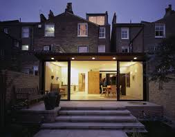 house extension with paved patio and steps back door pinterest