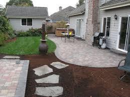 before u0026 after paver patio landscape eugene springfield oregon