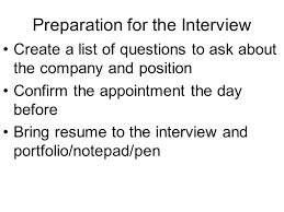 Bring Resume To Interview The Interview Ppt Download