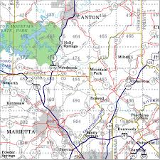 Grid Map Georgia Highway City And County Wall Maps Aero Surveys Of Georgia