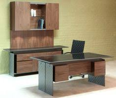 Modern Executive Desk Sets Modern Computer Desk In Walnut With Stainless Steel Legs And A