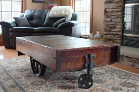 Coffee Tables Ebay How To Build A Factory Cart Coffee Table Ebay Woode Thippo