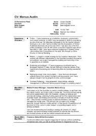 Word Formatted Resume Full Cv In Word Format