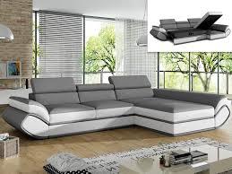 canapé angle promo canapé angle droit convertible orleans pas cher simili gris blanc