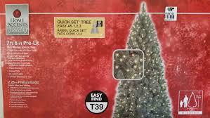 new 7 5 ft wesley slim spruce pre lit clear tree