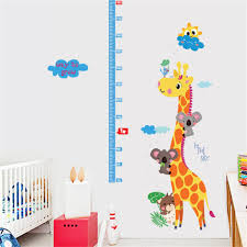 casterlyrock giraffe height measure ruler wall sticker removable