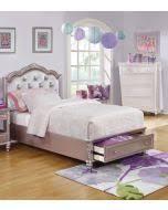 Kids Fabric Headboard by Caroline Metallic Lilac Kids Full Storage Bed Upholstered Headboard