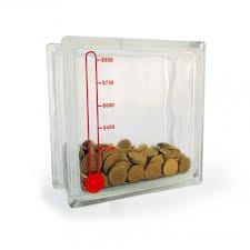 money box glass block money box thermometer piggy bank project