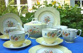 vintage tea set johnson brothers vintage yellow tea set