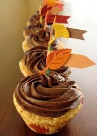 fall harvest cupcakes decorating ideas thanksgiving