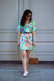 Swell Lilly Pulitzer by Tropical In A Palm Print Lilly Pulitzer Dress Orchids And Oxfords