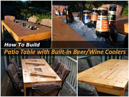 Patio Table Beer Cooler Diy Patio Table With Cooler Pictures Photos And Images For