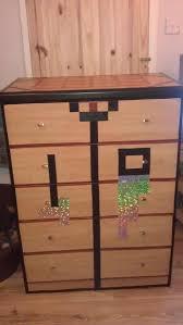 crafting table dresser minecraft bedroom pinterest minecraft
