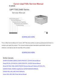canon lbp7750c service manual by maricruz pascascio issuu