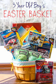 filled easter baskets boys my 3 year boy s easter basket with no candy easter