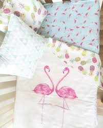 modern girls crib blanket tropical crib blanket flamingo