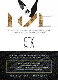 new years ties stk atlanta presents black ties and bubbles new year s
