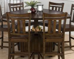 triangle counter height dining table triangle dining set jofran boynton brown 54x54 triangle counter