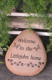 Engraved Garden Rocks Engraved Welcome Stones
