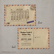 save the date postcard airmail 3 nostalgic imprints inc