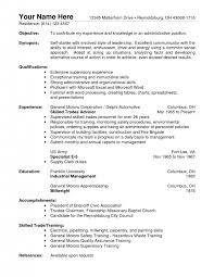 Sample Resume For Supervisor Position by Warehouse Supervisor Resumes Resume For Warehouse General Worker