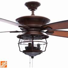 Outdoor Ceiling Fans At Home Depot by Westinghouse Brentford 52 In Indoor Outdoor Aged Walnut Ceiling