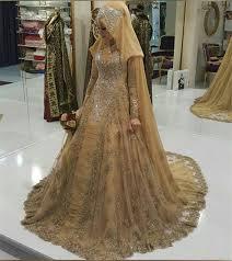 bridal dresses 2017 muslims wedding dresses sleeves gown