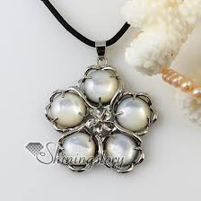round freshwater pearl necklace images Flower round white seashell mother of pearl oyster sea shell jpg