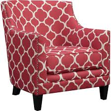 Nailhead Accent Chair Picket House Furniture Udh708100ca Deena Red Patterned Fabric