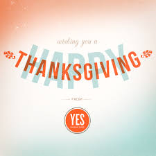 happy thanksgiving and 1 year anniversary from yes design shop