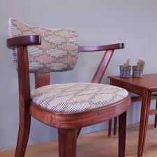 Mid Century Desk Mid Century Desk Chair Reupholstered In U0027tile U0027 By Thorody 220 00