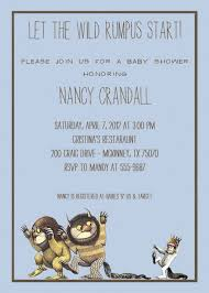 where the wild things are baby shower invitations where the wild
