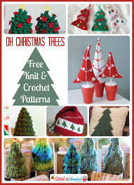 knit christmas oh christmas trees lovely knit crochet patterns stitch and unwind