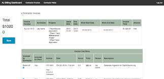 contractor invoices subcontractor invoices