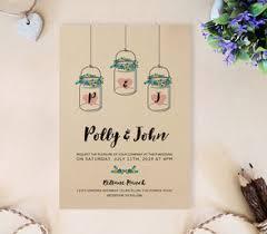 jar invitations kraft wedding invitations lemonwedding