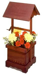 r14 520 wishing well planter vintage woodworking plan