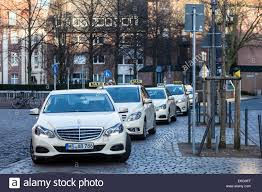 mercedes of germany mercedes e class taxi cabs at taxi rank in muenster germany
