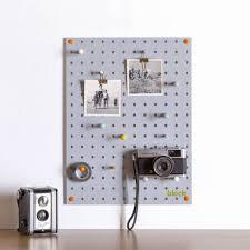 Wall Organiser Block Design Pegboard Grey Black By Design