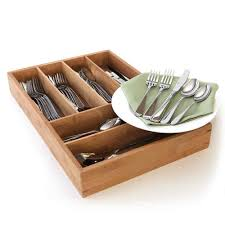 bamboo flatware flatware set service for 12 stainless steel cutlery bamboo storage
