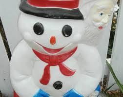 snowman blow mold etsy