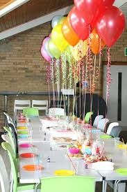 table centerpieces for party balloon decoration ideas for 50th birthday party table