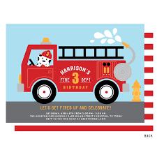 firetruck themed thank you card firetruck thank you card