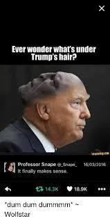 Professor Snape Meme - ever wonder what s under trump s hair ifunnyce a professor snape a